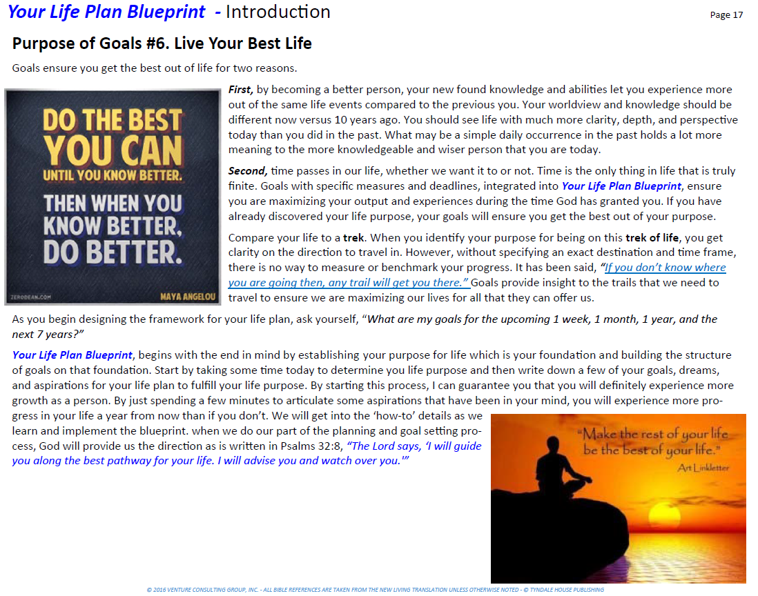 Workbooks goals workbook : Day 347 – Your Life Plan Blueprint™ – The Purpose of Goals (4 ...