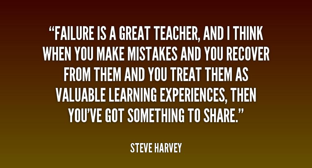 failure is a better teacher