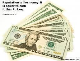 reputation money