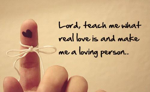 Teach me what love is