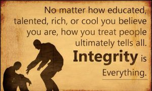 Character and Integrity 5