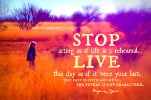 LIfe is not a practice session 3