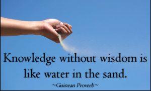 Wisdom Before Knowledge 2