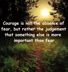 Courage is Not the Absence of Fear 1
