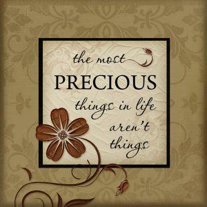The Precious Things of Life 1