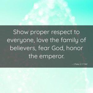 Proper Respect For God 4