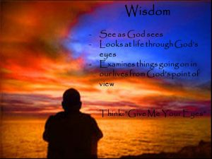Examines things going on in our lives from God's point of view. Think: Give Me Your Eyes