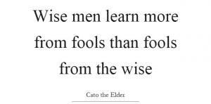The Wise Learn From Fools 4
