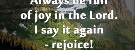 Always be Full of Joy 3