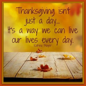 Live a Life of Thanksgiving 1