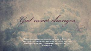God Never Changes 1