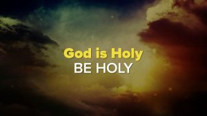 God is Holy2