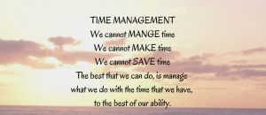 Time Management is a Myth 1