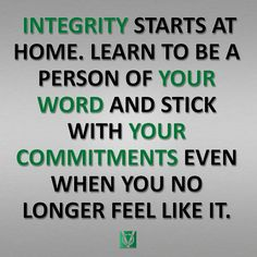 Integrity Starts at Home 3