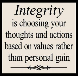Personal Integrity 3