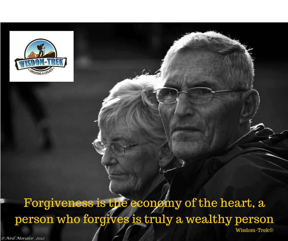 Forgiveness is the economy of the heart, a person who forgives is truly a wealthy person