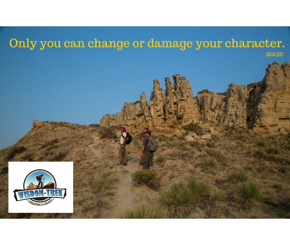 Only you can change or damage your character.