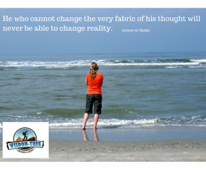 He who cannot change the very fabric of his thought will never be able to change reality