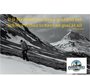 It is far better to have a goal and not achieve it than to have no goal at all
