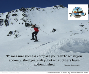 To measure success compare yourself to what you accomplished yesterday, not what others have accomplished